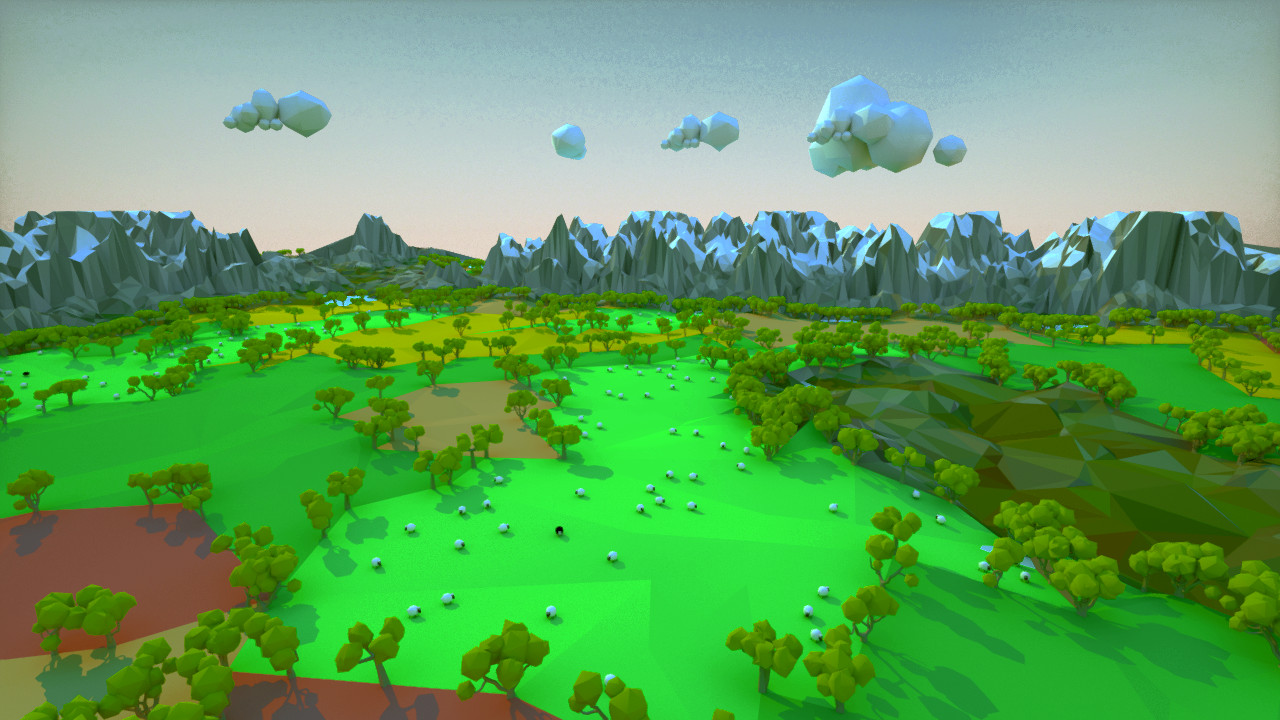 Procedurally Generating Stylized Farmland Scenes